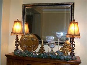 Southern Seazons Dining room buffet decorated for Christmas