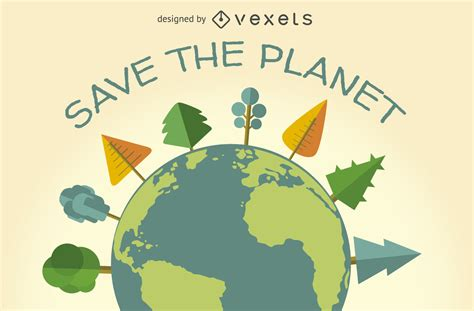 Save the planet ecology sign Vector download