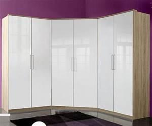 Kleiderschrank Weiß Eiche : top eck kleiderschrank hochglanz weiss eiche schlafzimmer eckkleiderschrank ebay ~ Markanthonyermac.com Haus und Dekorationen