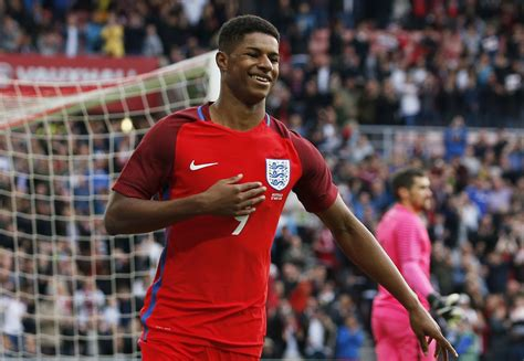 He made his debut for the first team in 2016 in a game against midtjylland. Twitter meltdown as Marcus Rashford scores England U21 hat-trick