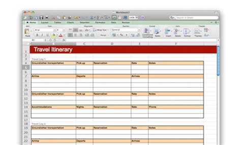 microsoft word spreadsheet templates
