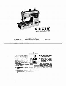 Singer 338 Sewing Machine  Embroidery  Serger Owners Manual