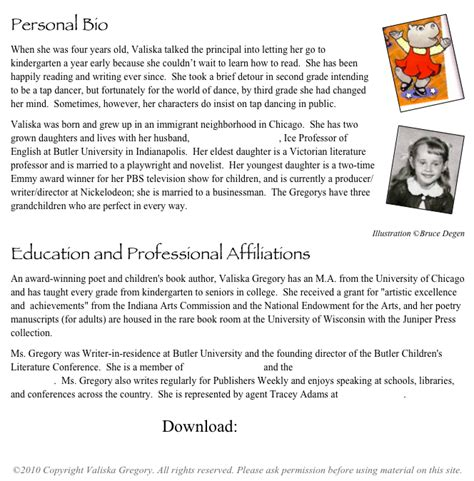 personal bio template best photos of personal biography letter personal bio template sles sle professional