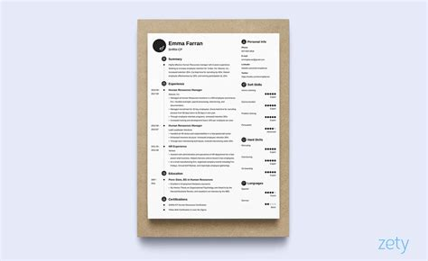one page resume templates 15 exles to download and use now