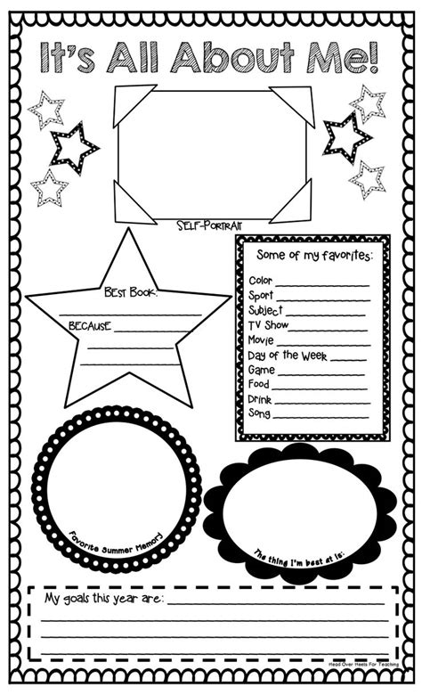 About Me Template For Students by 71 Best Images About All About Me Poster Ideas On