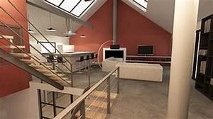 amenagement d39un entrepot en loft contemporain par lignes With idee d amenagement interieur