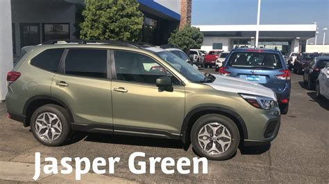 subaru forester 2019 green shoot jasper green and horizon blue 2019 forester colors