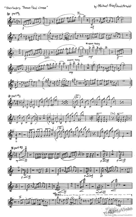 Taxi (sheet music) for later. Sherlock Theme/Taxi Chase Sheet Music for violin | Music | Pinterest | A tv, Violin and Pictures