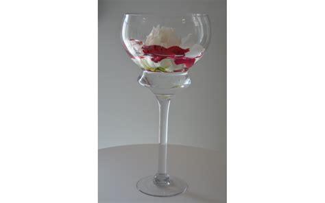 location vase verre coupe sur pied dauphin 233 r 233 ception
