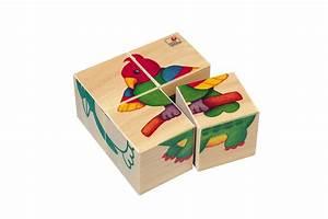 Cube En Bois Bébé : puzzle cubes b b s animaux puzzle cubes en bois ~ Dallasstarsshop.com Idées de Décoration