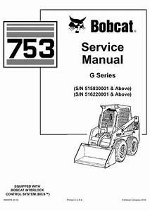 Bobcat 753 Skid-steer Loader Service Manual