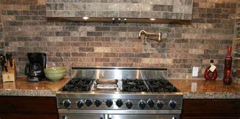 tile kitchen backsplash faux brick tile backsplash in the kitchen brick tile 5643
