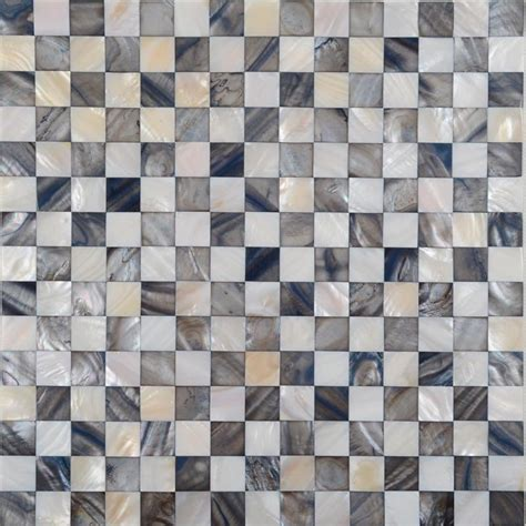 shell mosaic tiles black white of pearl tile