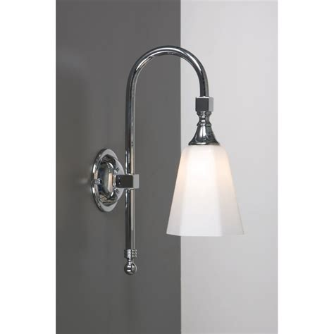traditional bathroom wall light chrome with swan neck arm
