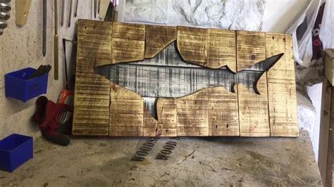pallet shark wall art youtube