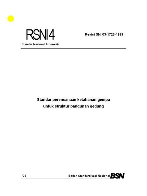 SNI 1726- 02 (GEMPA)