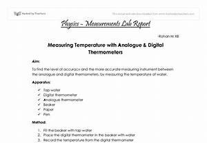 Physics Lab Report - Measurements