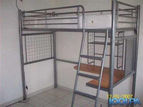 lit superposé avec bureau intégré conforama lit mezanine acier enfant bureau intégré annonce