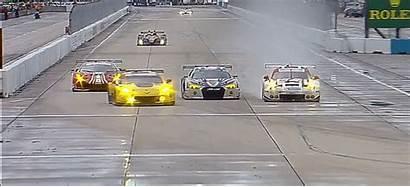 Racing Porsche Tank Corvette Crash Wreck Animated