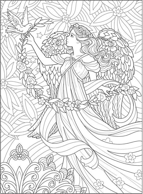creative haven beautiful angels coloring book angel coloring pages fairy coloring pages