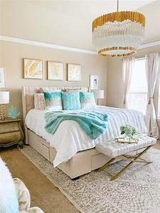 Coastal, Glam, Bedroom, Ideas, Home, Decor, Glamorous