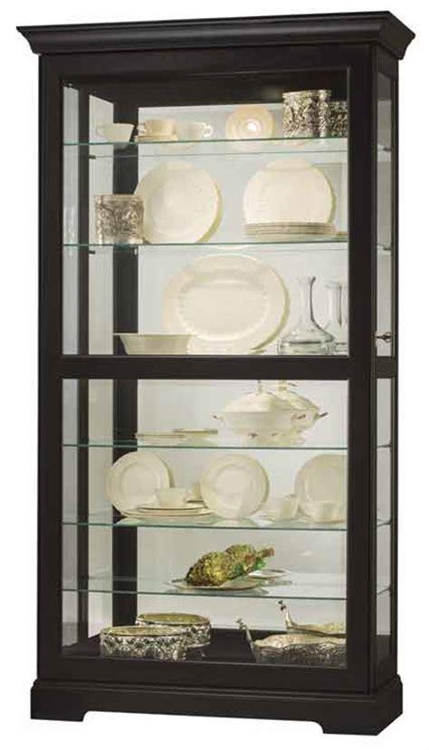 howard miller ii 680 538 black curio cabinet the