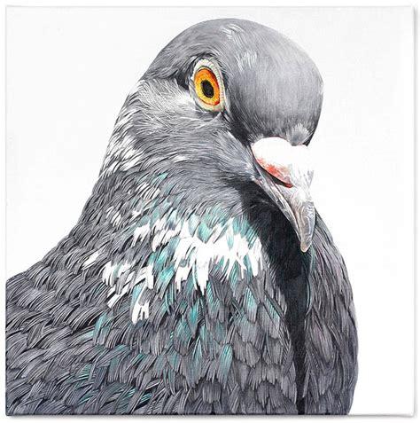 giant oil paintings  instagram famous pigeon  belgian