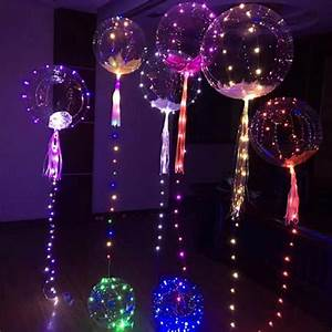 1PC 20inch Luminous Led Balloon Colorful Transparent Round