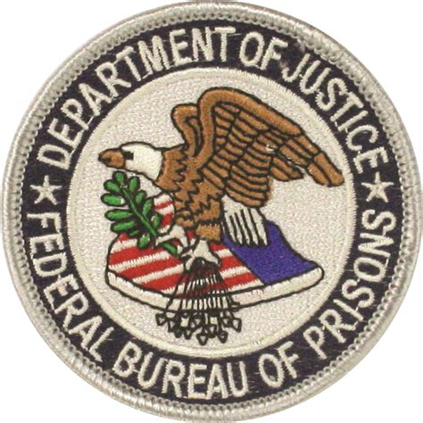 federal bureau of prisons cp us corrections federal bureau of prisons patch us