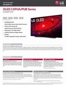 Lg 65 U0026quot  Class 4k Uhd 2160p Oled Smart Tv With Hdr