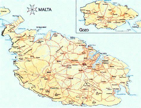 malta map  malta