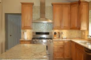 White Subway Tile Backsplash Home Depot by Maple Cabinets With Light Granite Countertops Kitchen