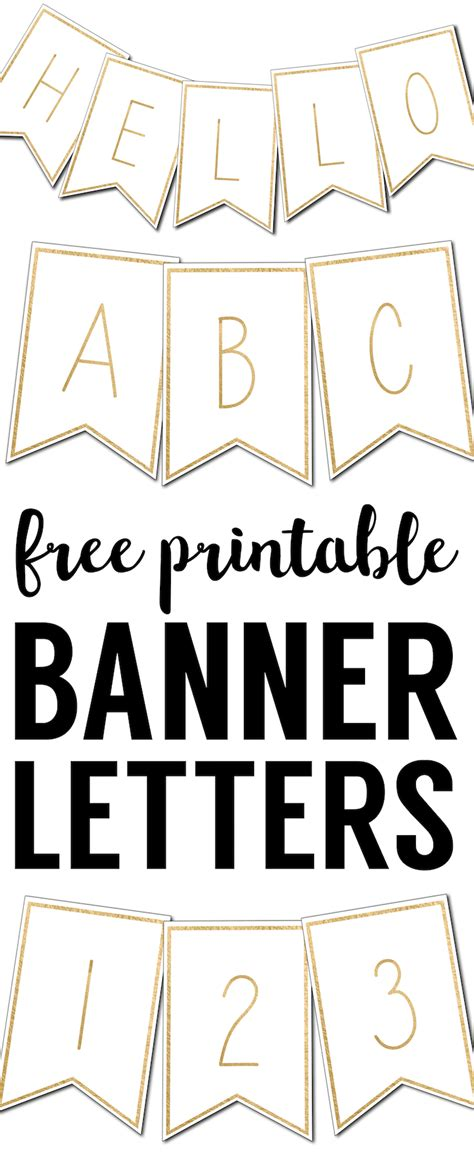 Print Letters Free by Free Printable Banner Letters Templates Paper Trail Design