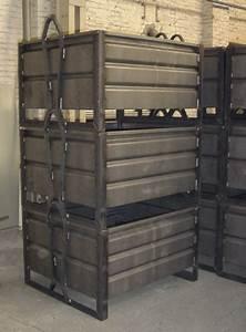 Caisse Palette Métallique : manergo caisse m tallique manubox mb de fabrication ~ Edinachiropracticcenter.com Idées de Décoration
