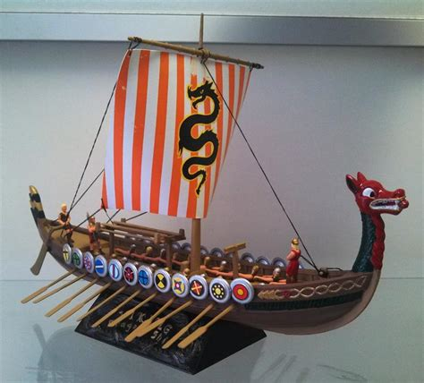 Viking Longboat Model by Viking Ship 1 64 Classic Plastic Atlantis And Hobby