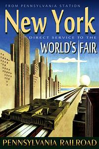 New York Poster : pennsylvania railroad new york worlds fair train station poster art print 023 ebay ~ Orissabook.com Haus und Dekorationen