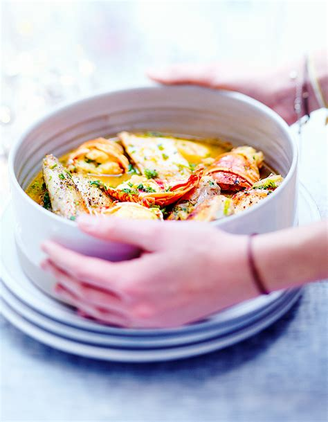 cuisines et vins de recettes poulet et langouste au vin jaune pour 6 personnes