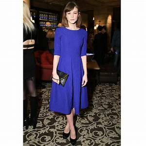 look du jour carey mulligan et sa robe bleu indigo a With robe bleu indigo