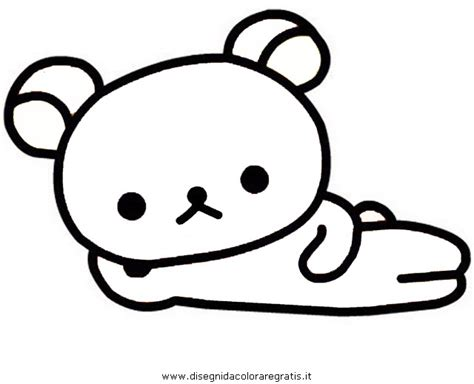 rilakkuma coloring pages sketch coloring page