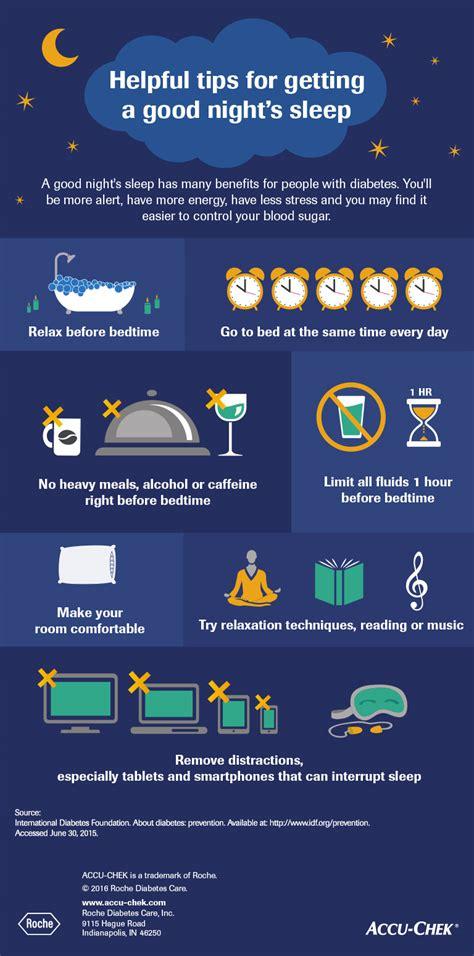 tips  sleeping  infographic accu chek
