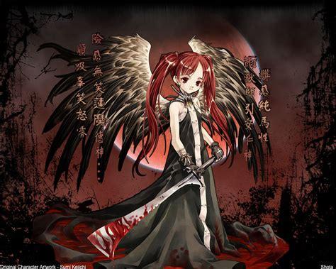 Bloody Anime Wallpaper - маленькая девочка с окровавленным мечём аниме обои и