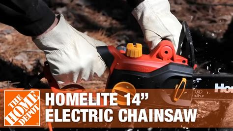 homelite  electric chainsaw  home depot youtube