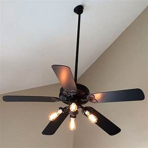 Ceiling awesome fan with edison lights