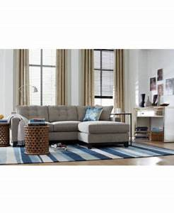 Clarke fabric 2 piece sectional sofa furniture macy39s for Clarke fabric sectional sofa living room furniture sets pieces