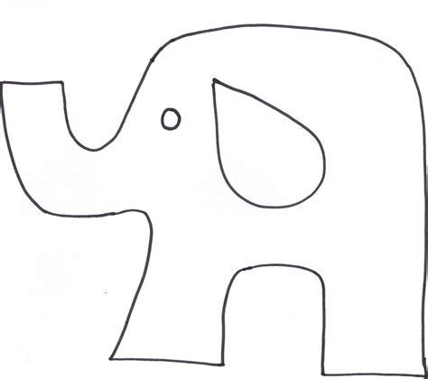 Elephant Template Animal Cutouts Printable Elephant Softy Favors