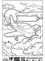 Quiver Vliegtuig Kleurplaat Persoonlijke Coloringpage Stemmen sketch template