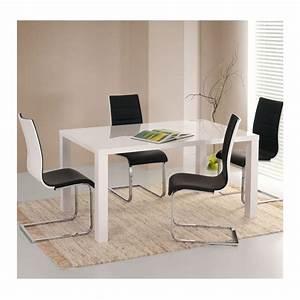 Chaise Noire Design : chaise blanche et noire reva chaises design noir et blanc ~ Teatrodelosmanantiales.com Idées de Décoration