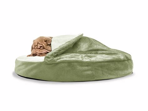 furhaven pet bed furhaven microvelvet snuggery orthopedic cave bed pet