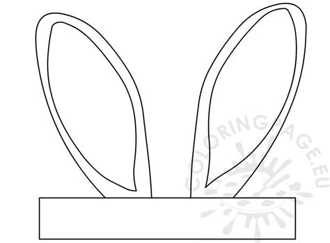 easter bunny ears template crafts coloring page
