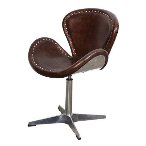 mercury swivel chair brown vintage leather coachella
